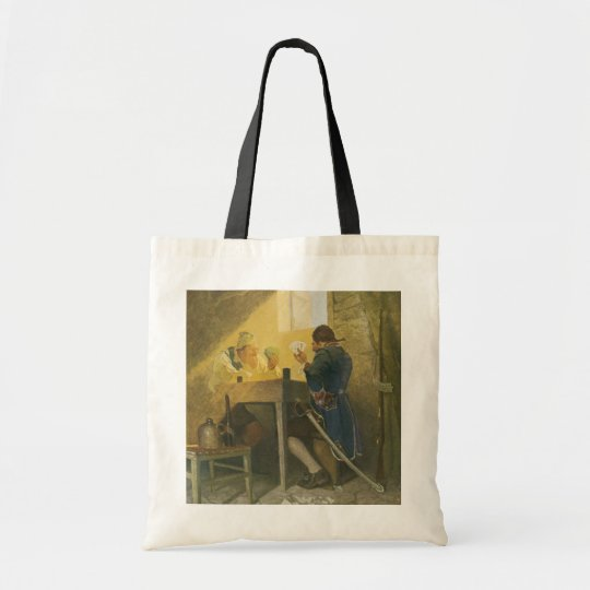 At the Cards in Cluny's Cage by NC Wyeth Tote Bag