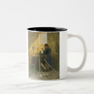 At the Cards in Cluny's Cage by NC Wyeth Two-Tone Coffee Mug