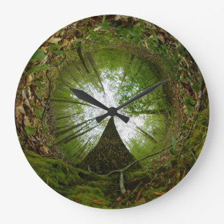 """At the Center of the Forest"" Large Clock"