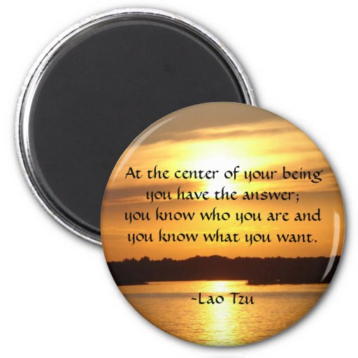"""""""At the center of your being..."""" Refrigerator Magnet"""