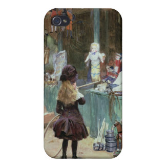 At the Champs-Elysees Gardens, c.1897 (gouache on Case For iPhone 4