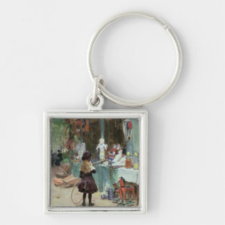 At the Champs-Elysees Gardens, c.1897 (gouache on Keychain
