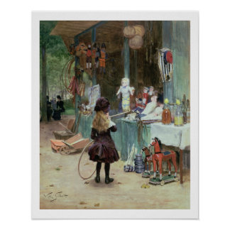 At the Champs-Elysees Gardens, c.1897 (gouache on Poster