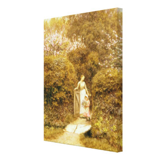At the Cottage Gate Gallery Wrap Canvas