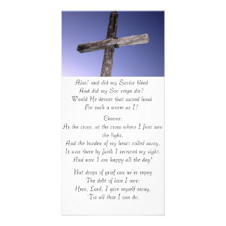 At The Cross Lyric Card