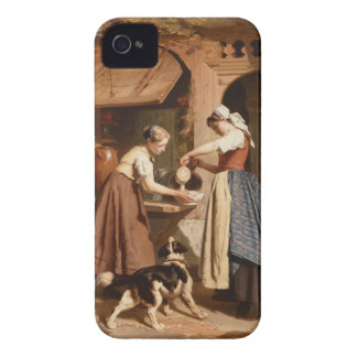 At the Dairy, 1866 (oil on panel) iPhone 4 Cover