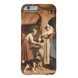 At the Dairy, 1866 (oil on panel) iPhone 6 Case