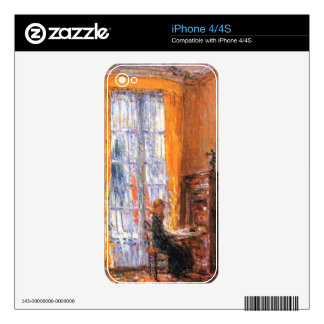 At the desk by Childe Hassam Skins For The iPhone 4