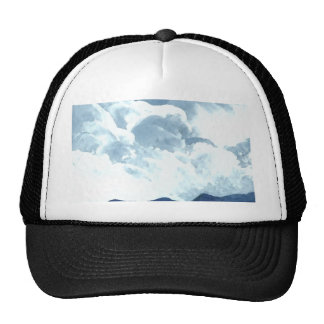 At the Edge of the Sea Blue Sky Clouds Ocean Art Trucker Hat