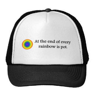 at-the-end-of-every-rainbow-is-pot trucker hat