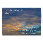 At the End of the Day  Greeting Cards