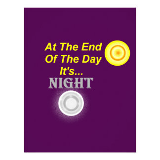 AT The End Of The Day Its Night Letterhead