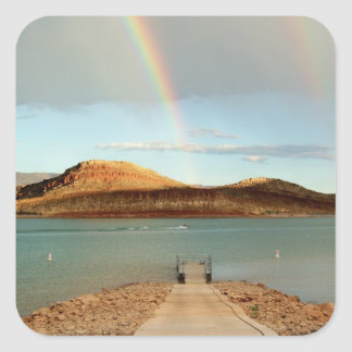 At the End of the Rainbow Square Sticker
