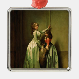 At the Entrance, 1796-98 Square Metal Christmas Ornament