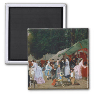 At The Fair,1877 2 Inch Square Magnet