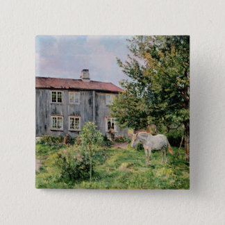 At the Farm, 1889 Pinback Button