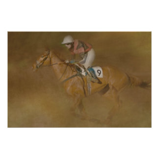 AT THE GALLOP GREETING CARD POSTER