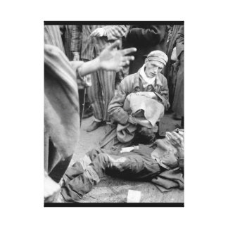 At the German concentration camp at_War Image Canvas Print