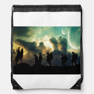 At The Going Down Of The Sun Drawstring Bag