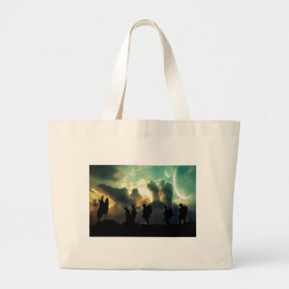 At The Going Down Of The Sun Large Tote Bag