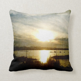 At the Going Down of the Sun Throw Pillows