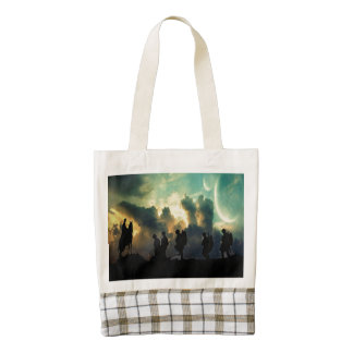 At The Going Down Of The Sun Zazzle HEART Tote Bag