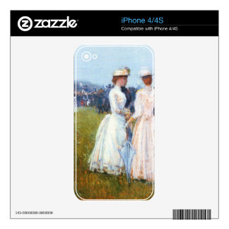 At the Grand Prix in Paris by Childe Hassam Skins For iPhone 4