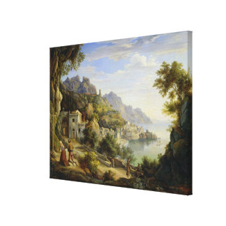 At the Gulf of Salerno, 1826 Canvas Print