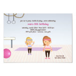At The Gym Birthday Party Invitation