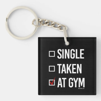 At the gym -   Training Fitness -.png Keychain