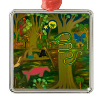 At the Heart of the Amazon River 2010 Metal Ornament