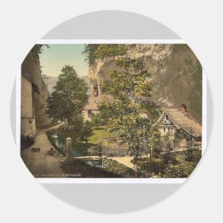 At the Hermitage, Solothurn, Switzerland vintage P Sticker