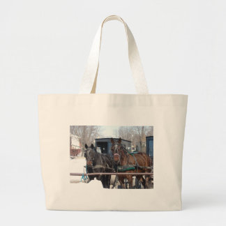 At the Hitching Post Large Tote Bag