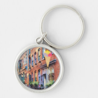 At the Ice Cream Parlor Easton PA Silver-Colored Round Keychain