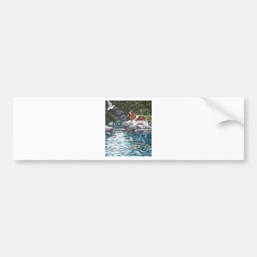 At The Koi Pond Bumper Sticker