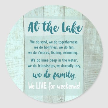 At the Lake Classic Round Sticker