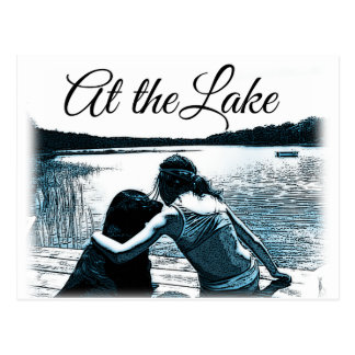 At the Lake. Postcard