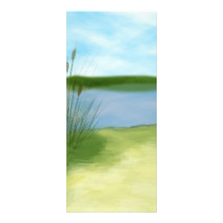at the lake pretty landscape design customized rack card