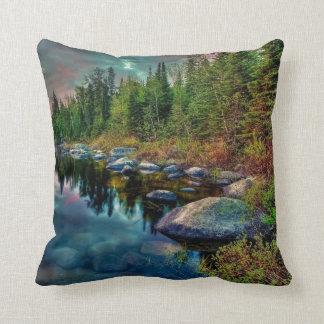 At the Lake Throw Pillow
