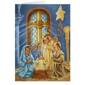 At the Manger Cards