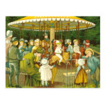 At The Merry Go Round Post Card