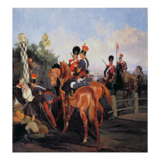 At the Mile Stone 1859 Poster