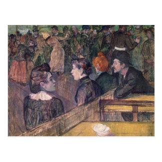 At the Moulin de la Galette, 1899 Postcard