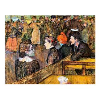 At the Moulin de la Gallette by Toulouse-Lautrec Postcard