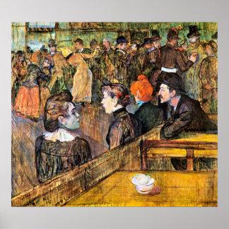 At the Moulin de la Gallette by Toulouse-Lautrec Poster