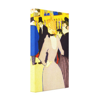 At the Moulin Rouge by Toulouse Lautrec Canvas Print