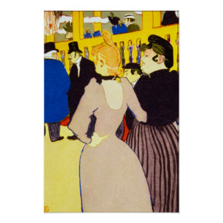 At the Moulin Rouge by Toulouse Lautrec Posters