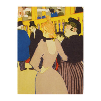 At the Moulin Rouge by Toulouse Lautrec Wood Canvas