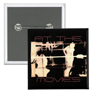 At The Movies Pinback Button