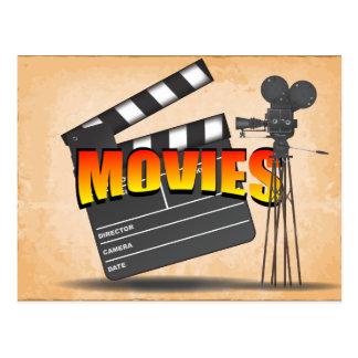 At The Movies Vintage Postcard